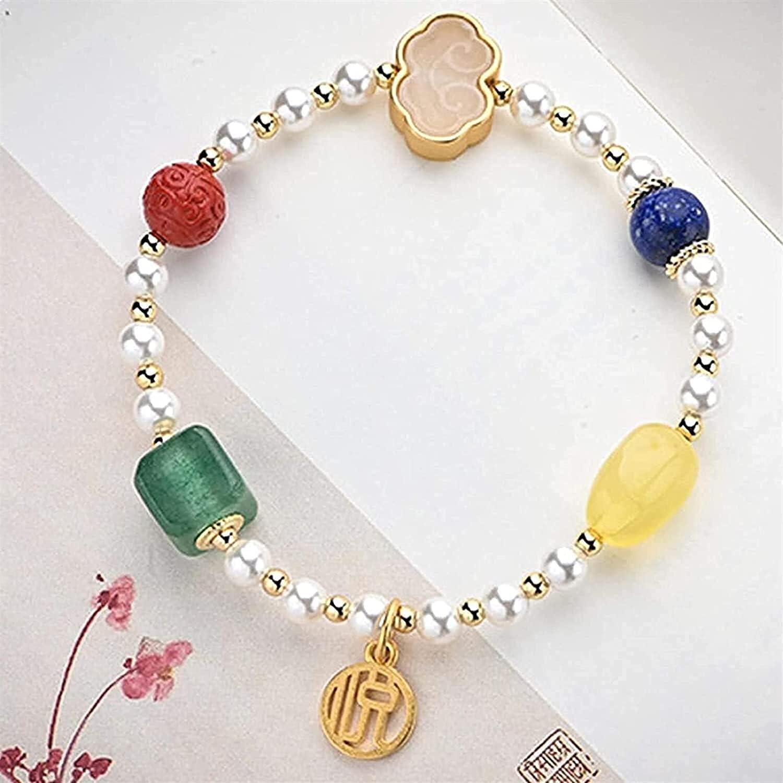 Bracelets Premium Easy-to-use Gemstone Beaded for Max 59% OFF S Women Feng Men