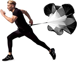 MDBuddy Parachute Speed Training Resistance Chute with Adjustable Strap, Carry Bag for Sprint, Running, Football & Soccer Drilling