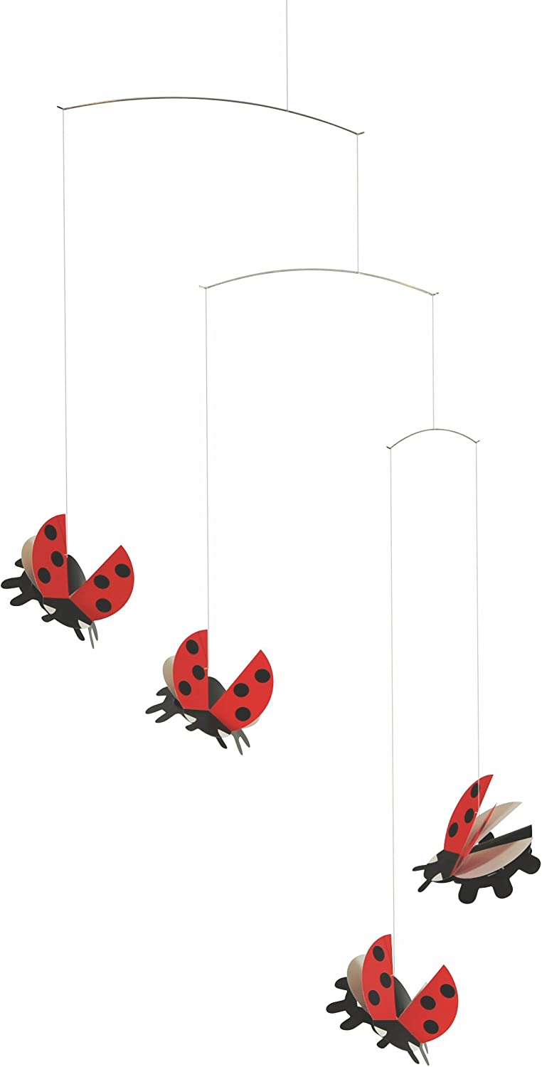 Flensted Mobiles Ladybird Hanging Nursery Mobile - 20 Inches Cardboard