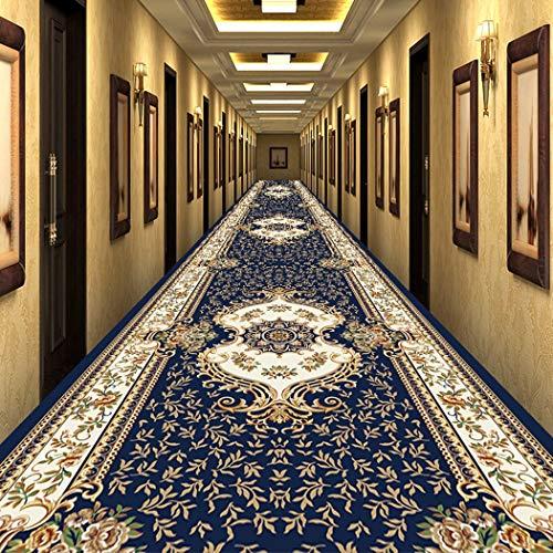 Jjzhb Médiéval Style Couloir Tapis Vintage Tapis, très Long Couloir Salle Runner Raffinez Tapis, Hall Tapis intérieur Area Surface au Sol (Color : B, Size : 60x200CM)