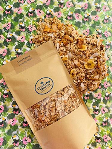 Nur noch für kurze Zeit: Limited EditionUnter Palmen Crunchy Queen Crunchy Müsli Ananas Banane Granola vegan & palmölfrei (340g)