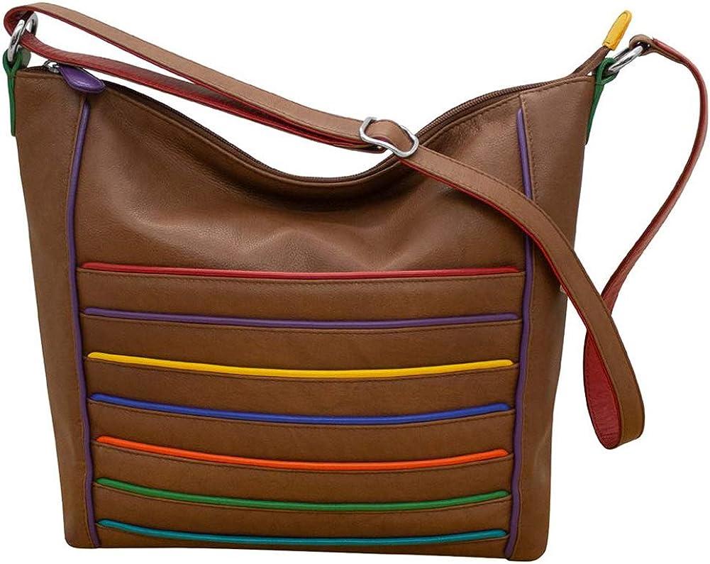 ili New York 6172 Slouchy Leather Hobo