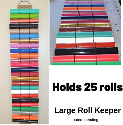 Craft vinyl holder – vinyl roll storage holds 25 rolls of vinyl – adhesive vinyl – by The Roll Keeper