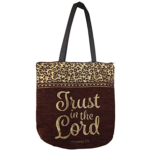 4377b19e32de African American Expressions - Trust in The Lord Woven Tote Bag (Chenille,  17