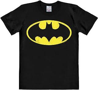 Logoshirt T-Shirt Batman Logo - T-Shirt DC Batman - T-Shirt à col Rond de Noir - Design Original sous Licence