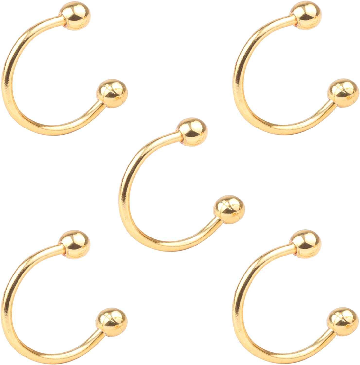 Z2Z 110G Unisex Horseshoe Hoop Septum Max 74% OFF Helix Cartilage Special price for a limited time Circul Ear