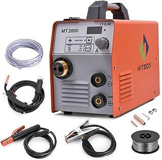 HITBOX Máquina de soldadura MIG 180A 220V Inversor de gas y sin gas Máquina de soldadura MIG CO2