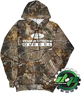 Diesel Power Plus Powerstroke Realtree camo Hoodie Hooded Sweatshirt Real Oak Mossy Tree Gear Small