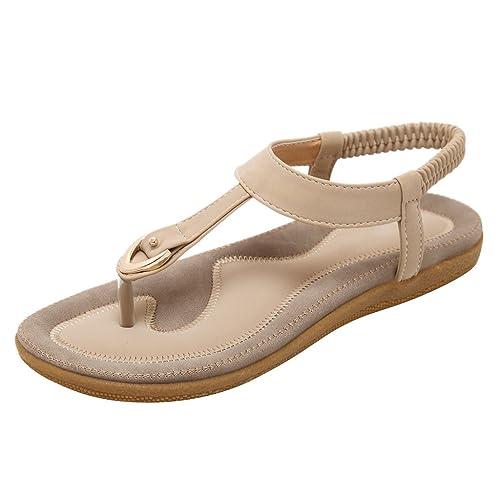 3acb0b2043a Dear Time Slingback T-Strap Flip Flop Women Ankle Strap Thong Sandals