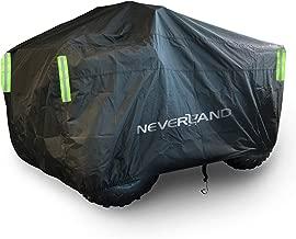 NEVERLAND ATV Cover Heavy Duty Waterproof With Straps Reflective,for Polaris Sportsman Yamaha Grizzly Honda FourTrax Kawasaki KFX Wheel Car Cover Black 82x47x 45 inch