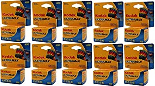 Kodak 10 Rolls GC 135-24 Max 400 Color Print 35mm Film ISO 400 (Pack of 10)