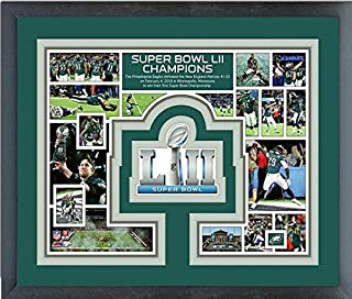 Philadelphia Eagles Super Bowl Photo Collage Matted & Framed 12.5