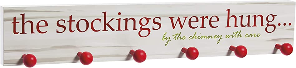 Cypress Home The Stockings were Hung Wooden Christmas Mantel Sign Wall Décor, 24