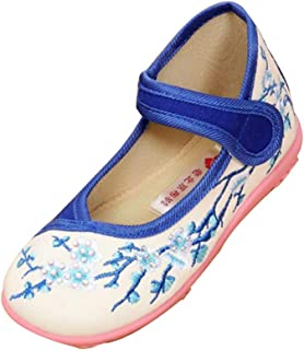 Aiweijia Girl's Embroidered Shoes Low Top Performance Shoes Solid Color Shoes