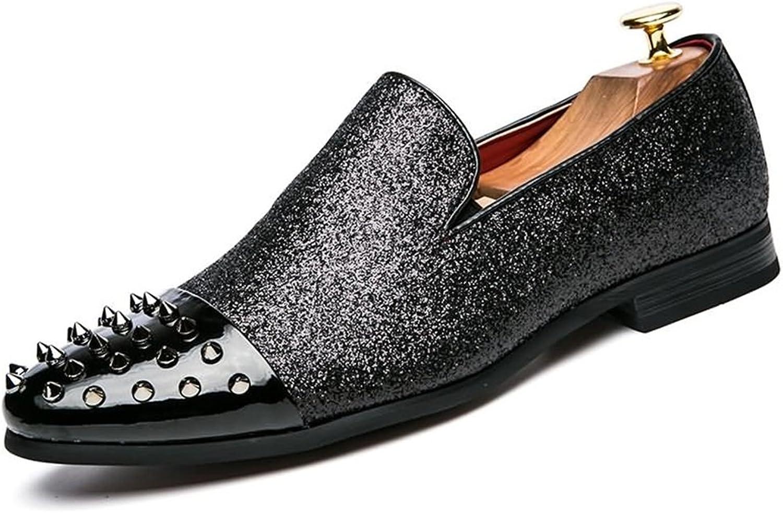 Männer Schuhe, Herrenschuhe PU Frühling Herbst Fahren Schuhe Loafers & Slip-Ons Niet für Casual Party & Abend Schwarz,Schuhe B07J1YD9BF  Stilvoll und charmant