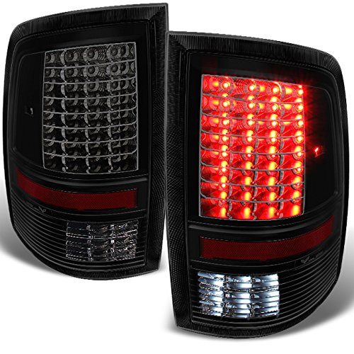 For 2009-2018 DODGE RAM 1500 | 20 2500 | 3500 Black Smoked LED Tail Lights Brake Lamps Left + Right Replacement Pair