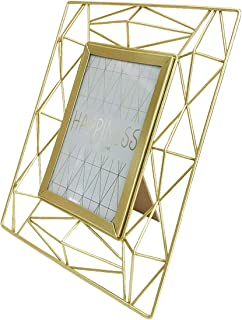 YIFONTIN Picture Frame 4x6 Stand Photo Display Frame Iron Metal for Desk or Dresser, Gold.