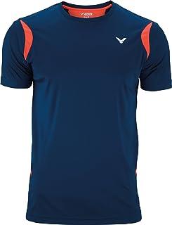 VICTOR Badmintonshirt/Squashshirt/Sportshirt T-Shirt Function Unisex, erhältlich Größen Coral, 140