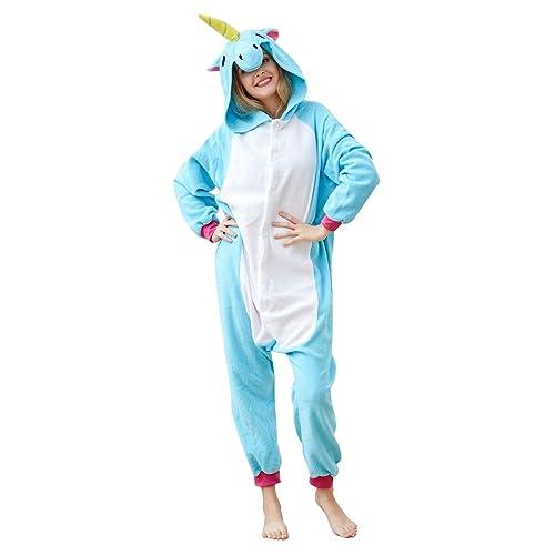 f74c23403 OLadydress Unisex Unicorn Costumes Pyjamas, Adult Women Men Animal Cosplay  Onesie