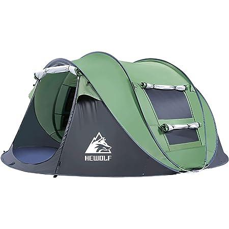テント ワンタッチ キャンプテント ポップアップ 2人用-4人用 通気性 UVカット 防風 アウトドア用品 花見 運動会 収納袋付き アウトドアテント