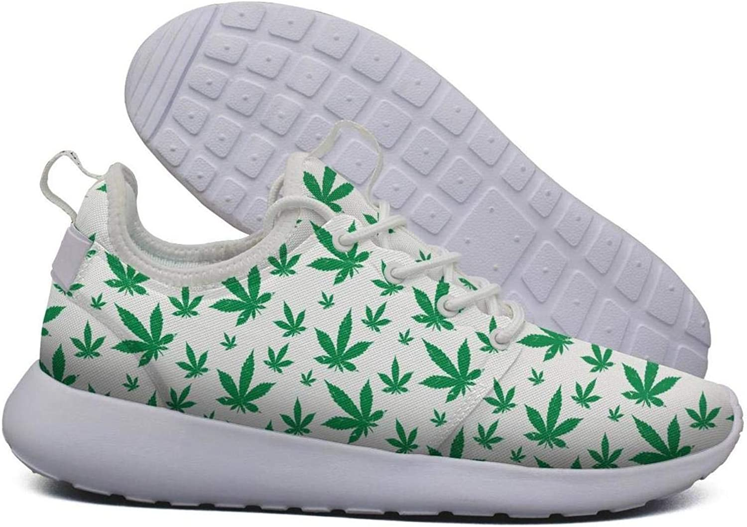 Hoohle Sports Womens Green Outdoor Cannabis Flex Mesh Roshe 2 Lightweight Cute Road Running shoes