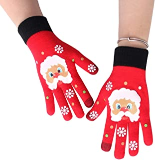 Ausexy_ Winter Knit Gloves Touchscreen Warm Thermal Soft Lining Elastic Cuff Texting Anti-Slip Warm Gloves