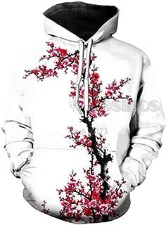 Hoodies Men's Women's Hooded Sweatshirt Cherry Blossoms Flowers 3D Print Hoody