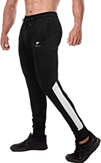 FASKUNOIE Men's Joggers Gym Elastic Close Bottom Workout Athletic Pants with Pockets