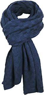 Men's Long Scarf Knit Cable Scarf Soft Winter Scarves