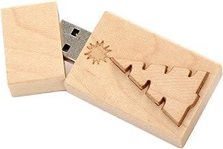 Maple 16GB USB 2.0 Flash Drive - Single Item - Inlaid Christmas Tree