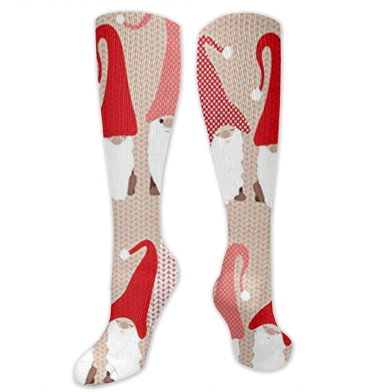 お風呂不名誉なお気に入り靴下,ストッキング,野生のジョーカー,実際,秋の本質,冬必須,サマーウェア&RBXAA Holiday Greeting Gnome Friends Socks Women's Winter Cotton Long Tube Socks Knee High Graduated Compression Socks