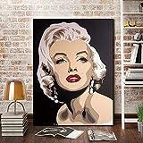 Cuadros Decoracion Salon Modernos Marilyn Monroe Cuadros para Dormitorios Modernos Arte Cuadros Lienzos Decorativos Impreso Sobre Lienzo para Decorar el Salón Dormitorio (60x80cm)