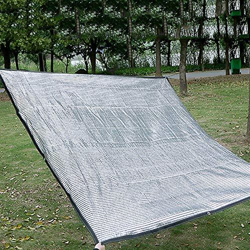 Lqqdp Rete Ombreggiante Rete Ombreggiante Argento Sunblock, Telo Rettangolare in Alluminio, per Il Tetto Interno del Parcheggio del Gazebo al Coperto (Size : 2x7m/6.6x23ft)