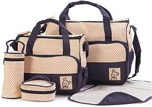 طقم من 5 قطع، حقيبة يد بحمالة كتف متعددة الاغراض بسعة كبيرة، متعددة الالوان، من ام اس، lf0811