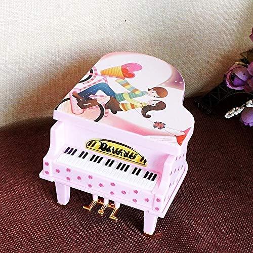 Piano Music Box Ballet Girl Dancing Piano Verjaardagscadeau Plastic Cartoon Rotating Music Box Desktop Craft Geschenken for kinderen QPLNTCQ (Color : Pink, Size : Free)