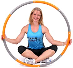 ResultSport The Original Foam Padded Level 2 Weighted 1.5kg (3.30lb) Fitness Exercise Hoop 100cm Wide