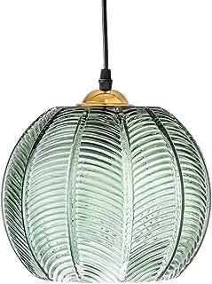 luminaire Suspension en verre Abat-jour vert Éclairage de plafond moderne Lampe Art déco en verre Salon Salle à manger Cha...