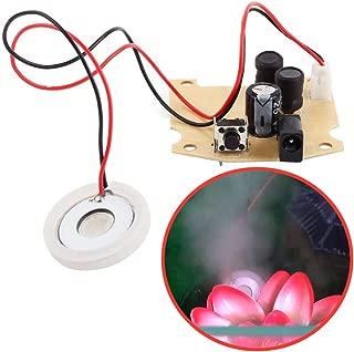 Icstation 20mm 113KHz DIY Ultrasonic Piezo Fogger USB Ceramic Discs Mist Maker Atomister Plate with 5V Power Driver Board DC 3.7V 5V 9V 12V Mini Humidifier Diffuser Parts