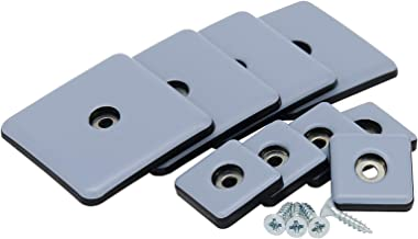 Teflon ladder om te schroeven 25 & 50 mm 4-16 stuks meubelglijders Teflon PTFE glijders 50 x 50 mm 4 Stück