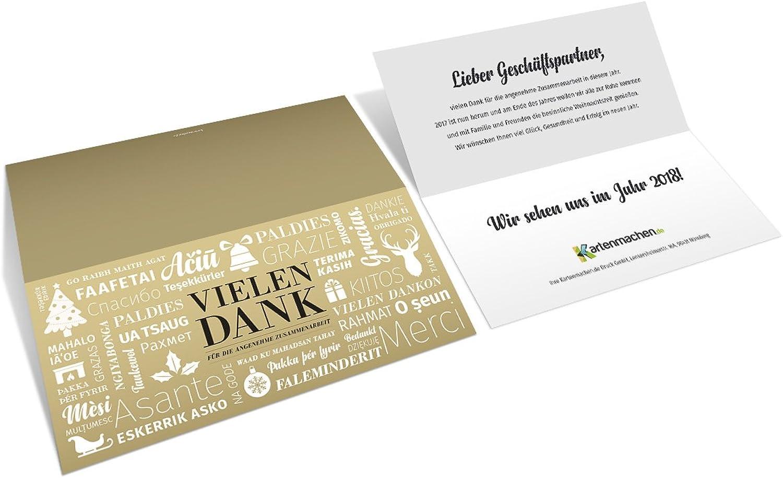 30 x Firmen Weihnachtskarten Grußkarten Grußkarten Grußkarten - Vielen Dank Wortwolke B076BNK3PH | Exquisite (mittlere) Verarbeitung  8545e8