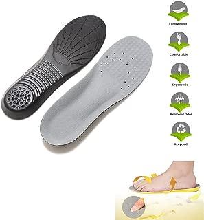 ULTNICE Plantilla de espuma viscoelástica Orthotics Arch Pads Plantilla de calzado para aliviar el dolor - Talla M (gris negro)