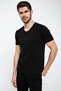 DeFacto Slim Fit V Yaka Basic T-shirt