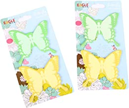 Eagle Butterfly Shaped Sticky Notes, 2.75 X 2.5-Inches, Assorted, 100 Sheets, Pack of 2