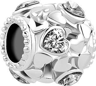 Abalorios de cristal con forma de estrella para pulsera europea. Uniqueen
