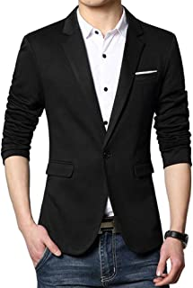 Men's Premium Casual One Button Slim Fit Blazer Suit Jacket Sport Coat