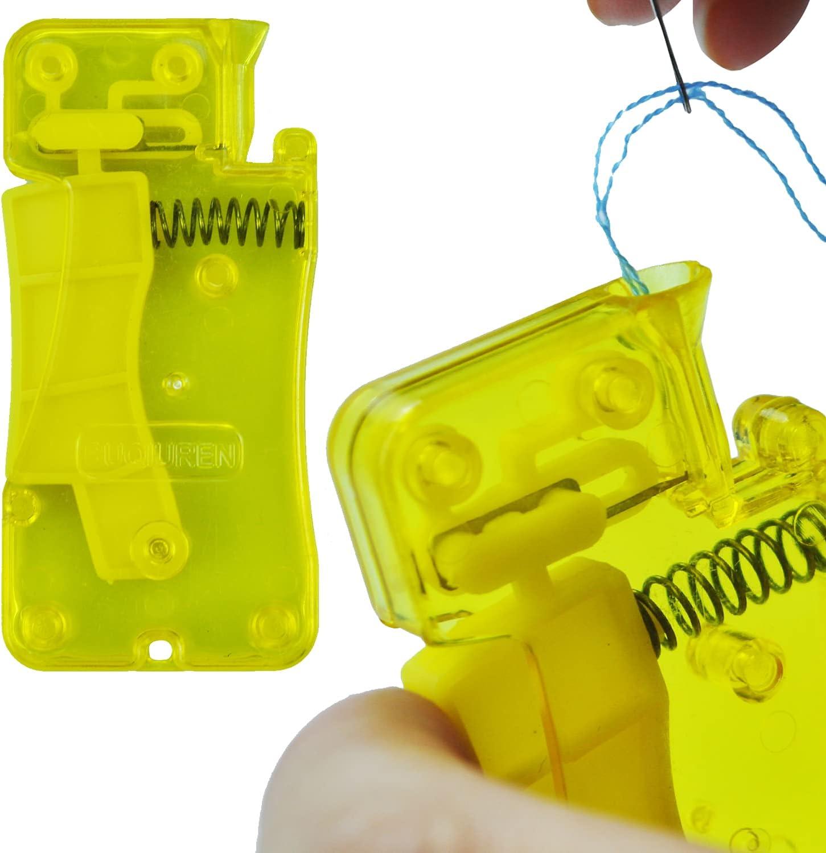 2Pcs Enhebrador Automático de Agujas Enhebradores de Aguja de Plástico Enhebrador de Agujas de Coser Needle Threaders Máquina de Enhebrado de Aguja de Hilo Herramientas de Costura Manual