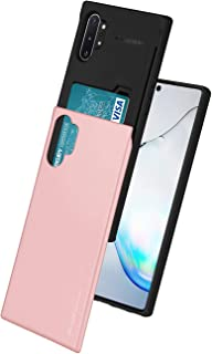 Goospery Sky Slide for Samsung Galaxy Note 10 Plus Case (2019) Dual Layer Bumper Cover with Card Holder Wallet (Rose Gold)...