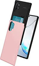 Goospery Sky Slide for Samsung Galaxy Note 10 Plus Case (2019) Dual Layer Bumper Cover with Card Holder Wallet (Rose Gold) NT10P-SKY-RGLD