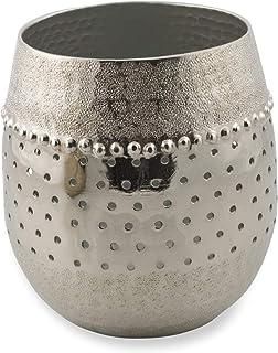 Boho Traders Kamal Aluminium Votive, Large, Silver
