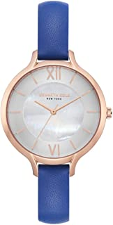Kenneth Cole Women's Off White Dial Leather Band Watch - KC15187007